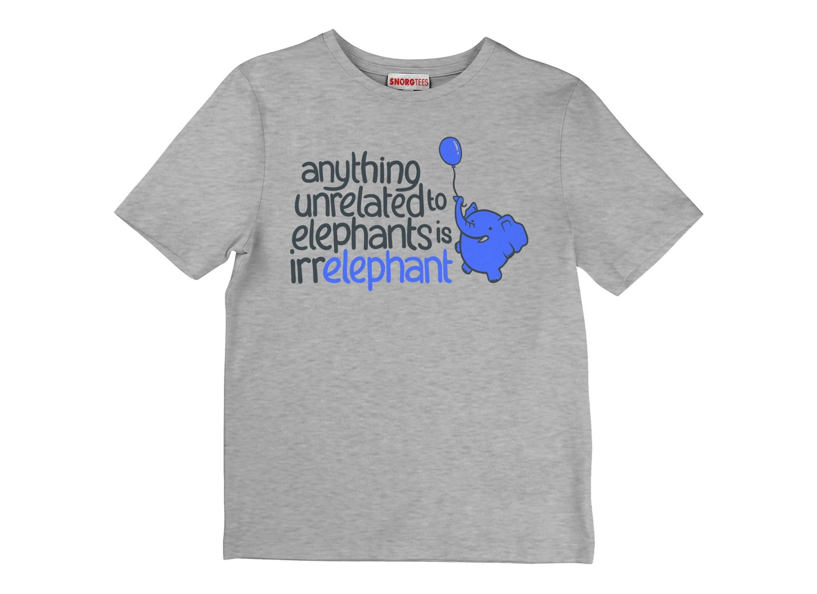 Anything Unrelated Elephants on Kids T-Shirt
