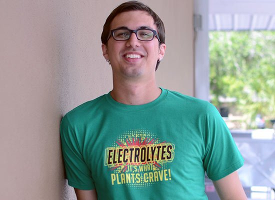 Electrolytes, It's What Plants Crave! on Mens T-Shirt