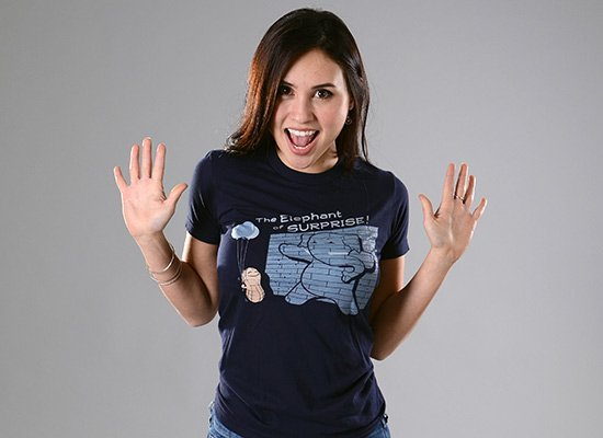 The Elephant of Surprise! on Juniors T-Shirt