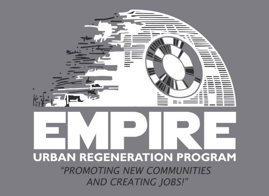 Empire Urban Regeneration on Mens T-Shirt