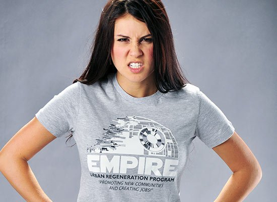 Empire Urban Regeneration on Juniors T-Shirt