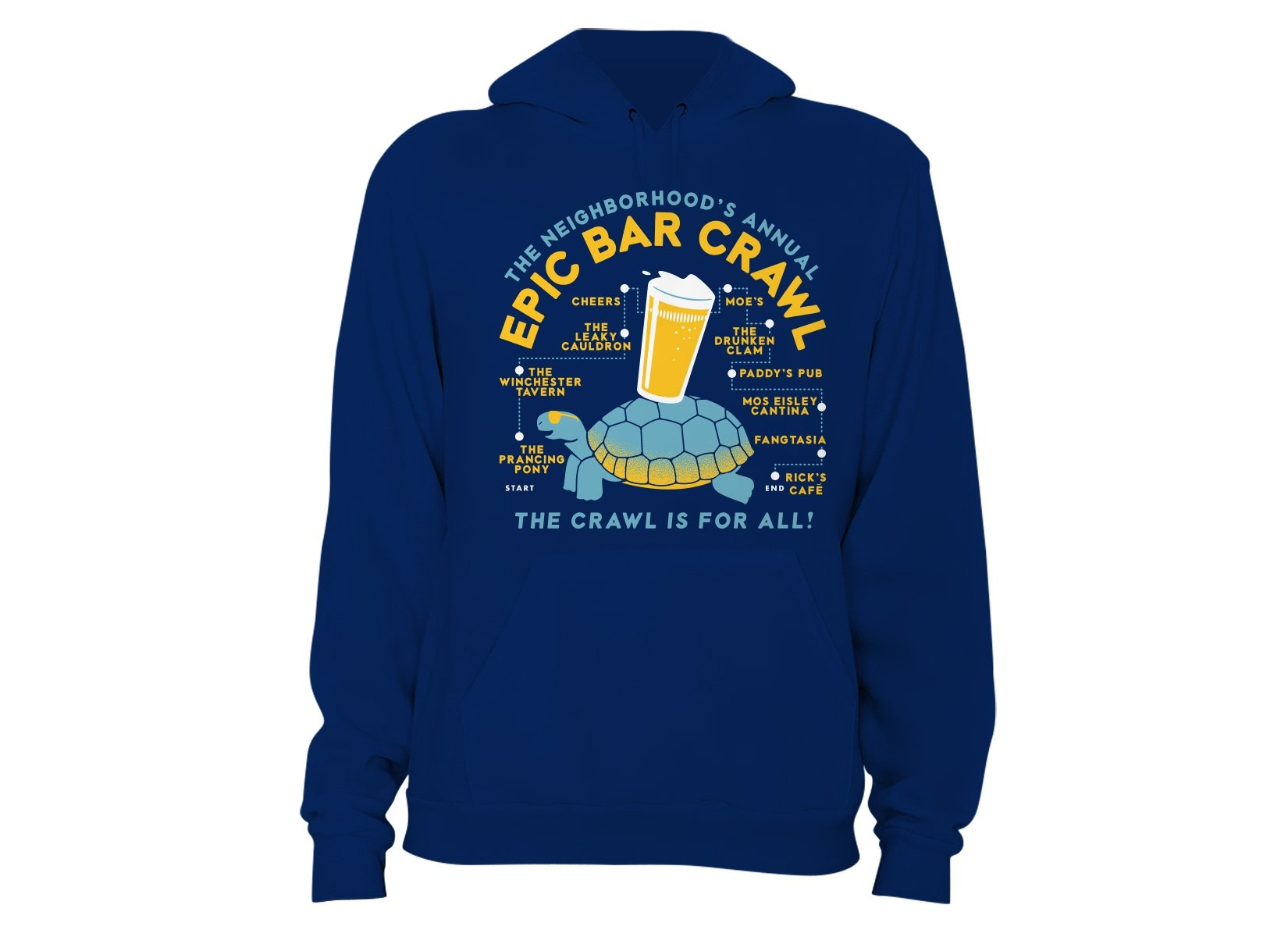 Epic Bar Crawl on Hoodie