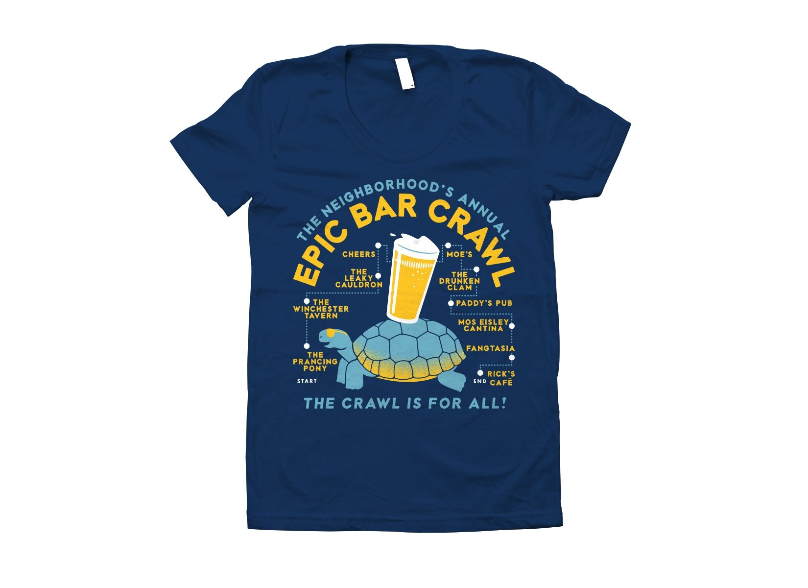 Epic Bar Crawl on Juniors T-Shirt