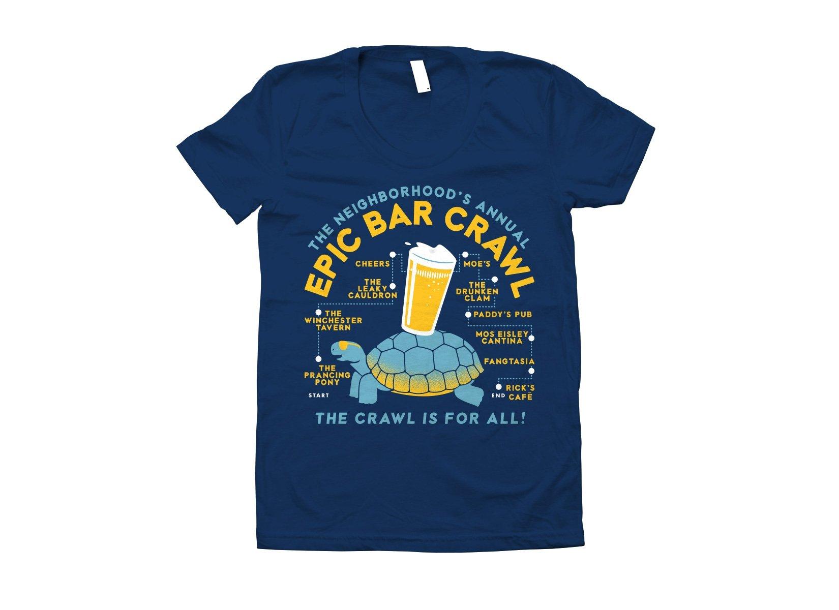 Epic Bar Crawl on Juniors T-Shirt