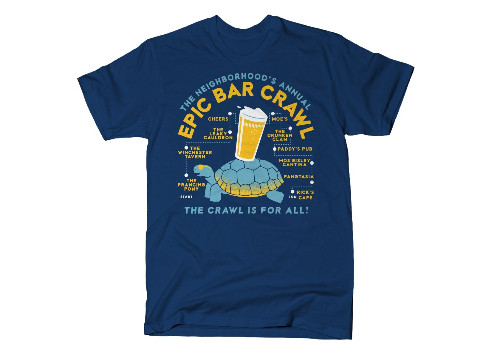 Epic Bar Crawl on Mens T-Shirt