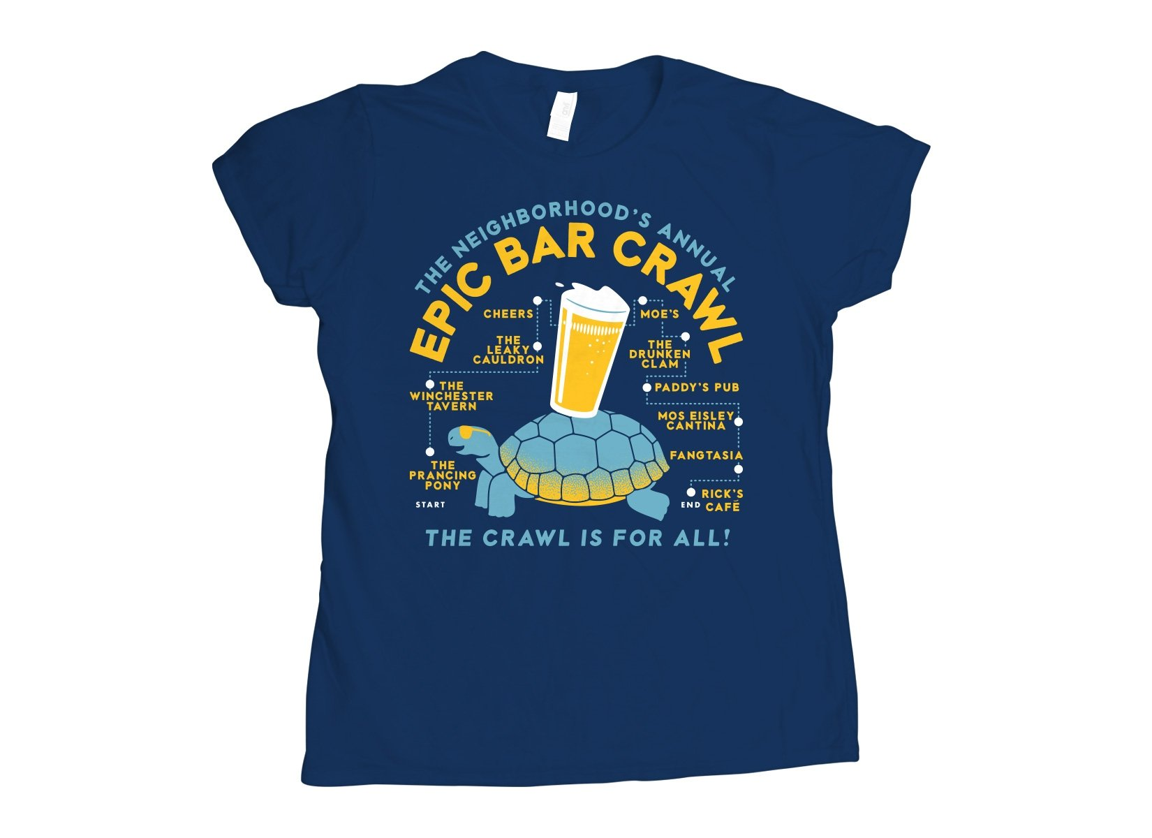 Epic Bar Crawl on Womens T-Shirt