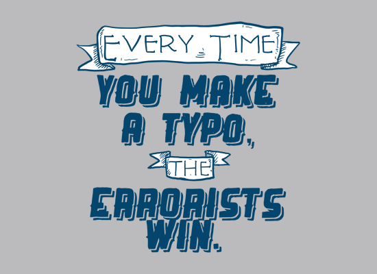 The Errorists Win on Mens T-Shirt