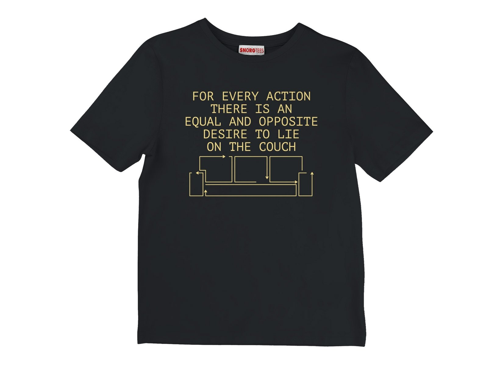 For Every Action There Is An Equal And Opposite Desire To Lie On The Couch on Kids T-Shirt