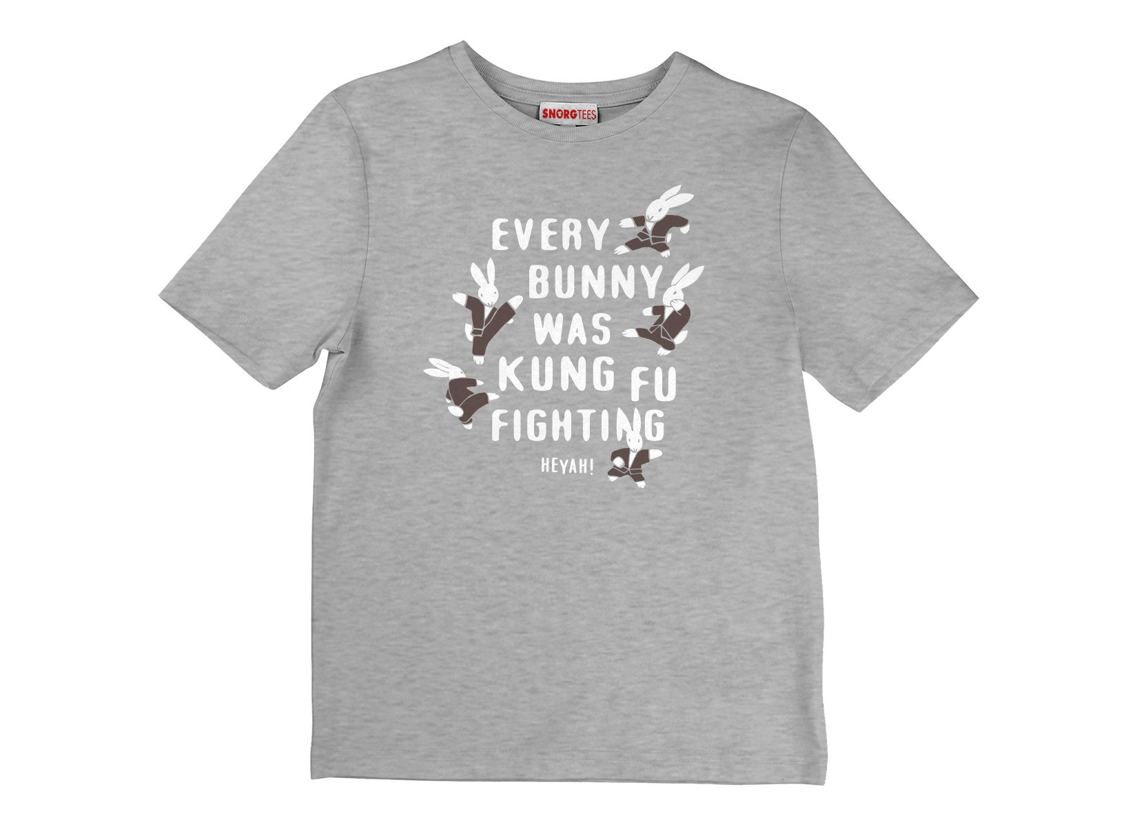 Every Bunny Was Kung Fu Fighting on Kids T-Shirt
