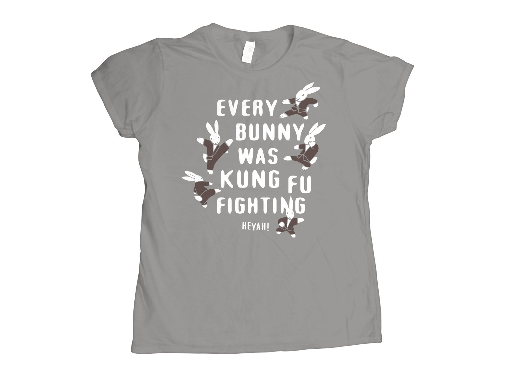 Every Bunny Was Kung Fu Fighting on Womens T-Shirt