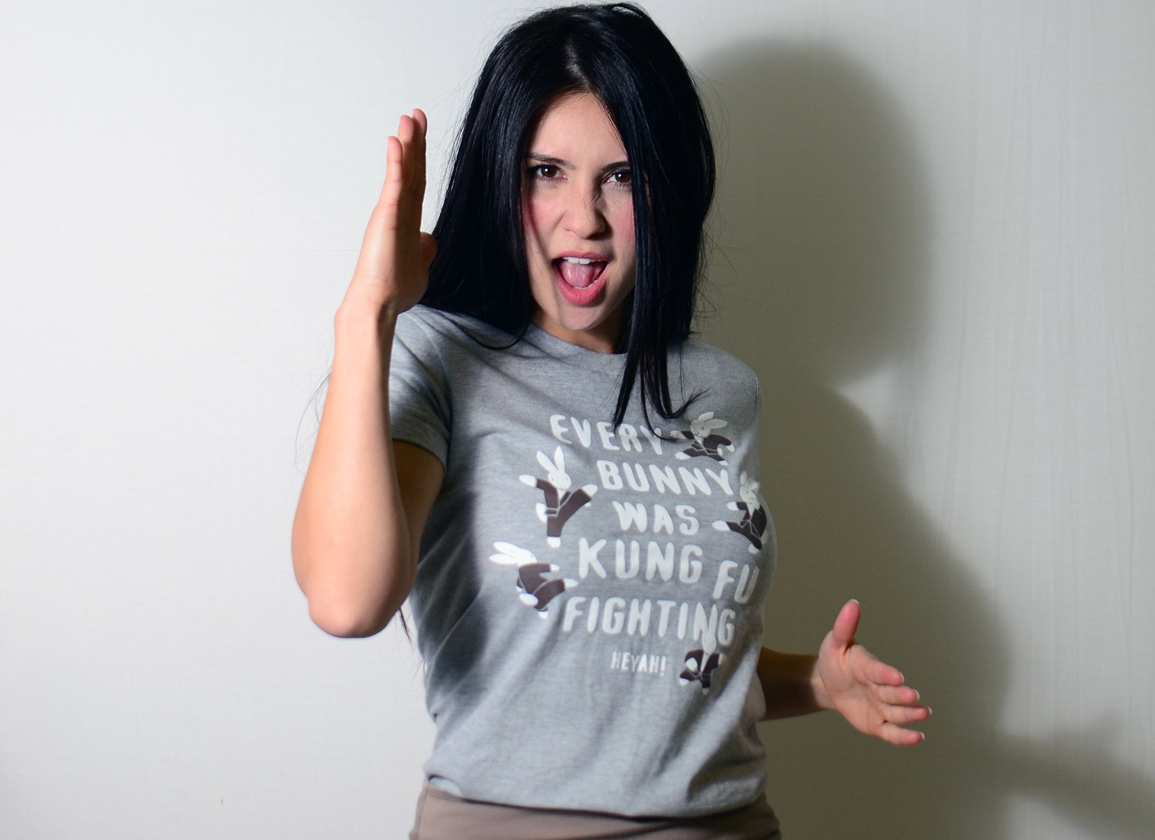 Every Bunny Was Kung Fu Fighting on Juniors T-Shirt