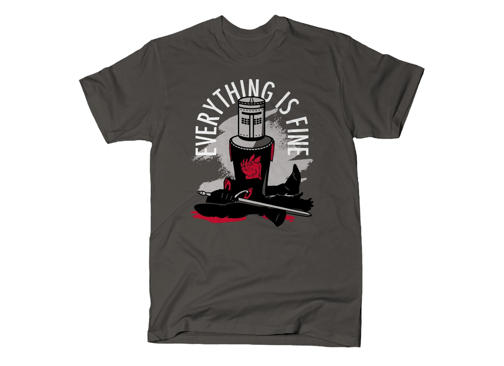Everything Is Fine on Mens T-Shirt
