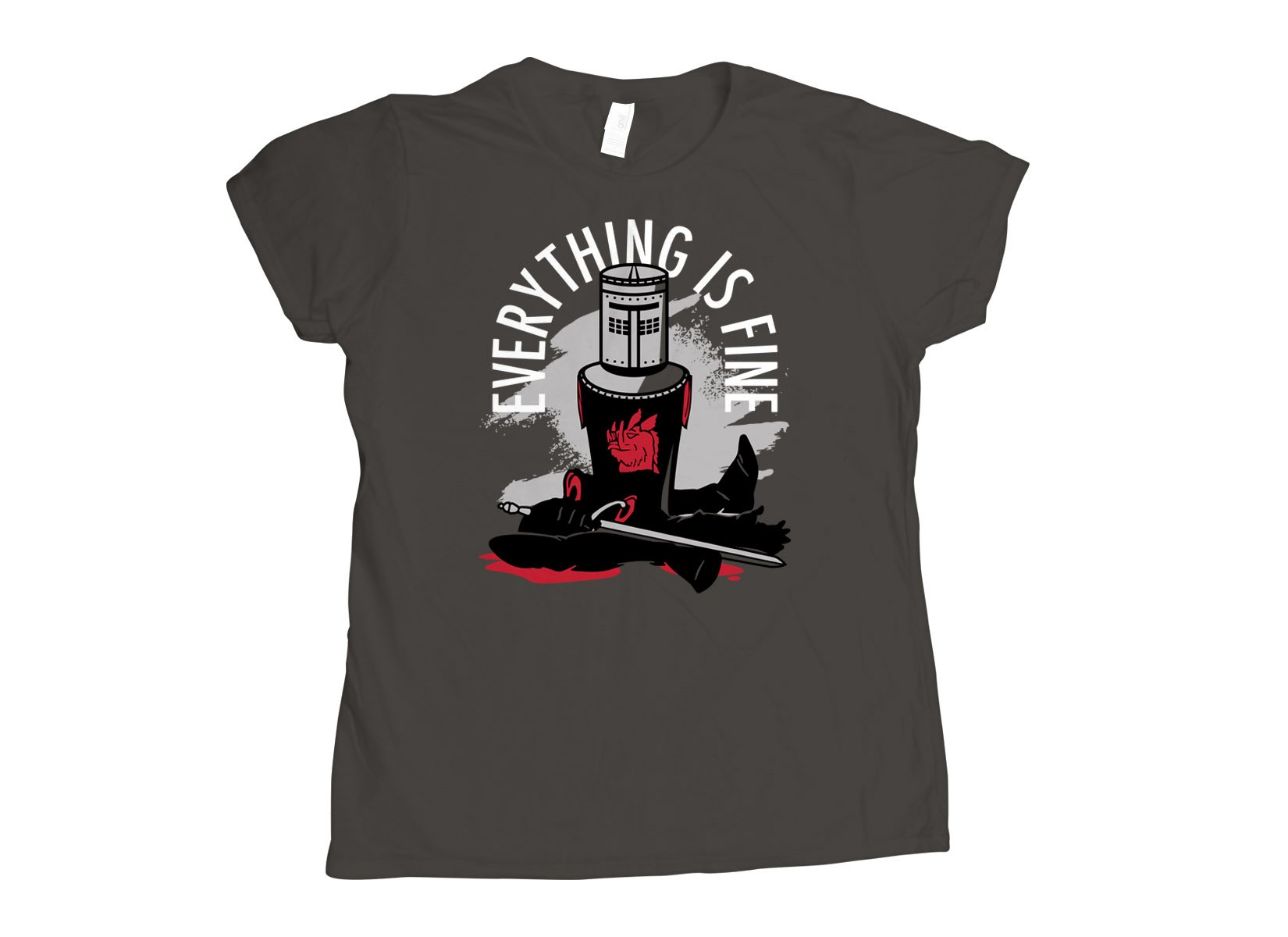 Everything Is Fine on Womens T-Shirt