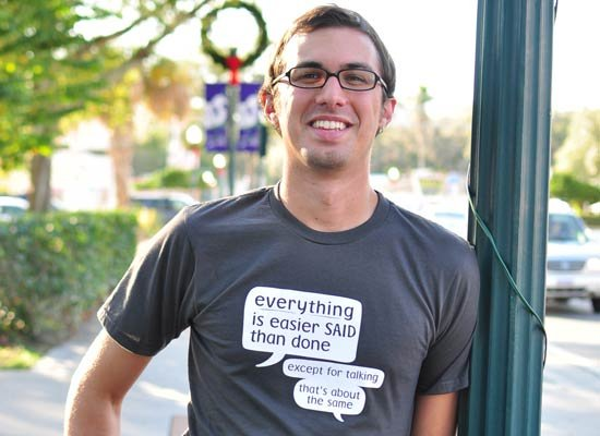 Everything Is Easier Said Than Done on Mens T-Shirt