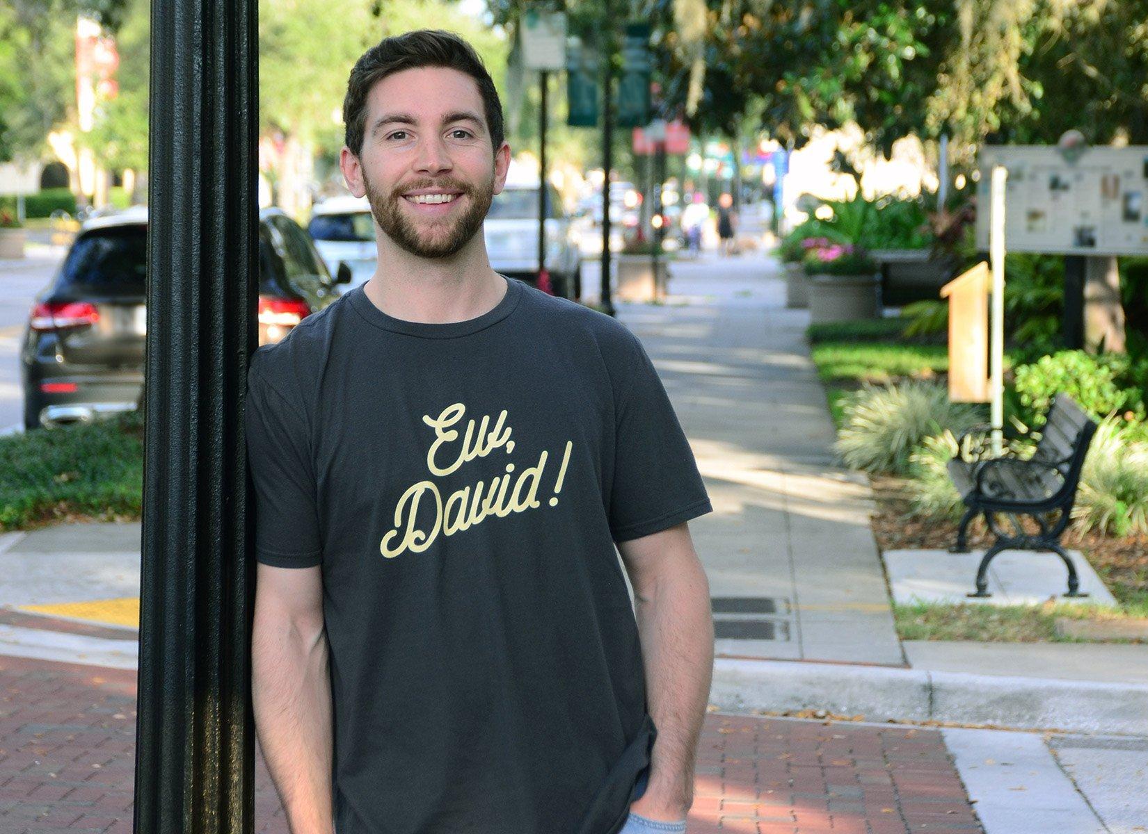Ew, David! on Mens T-Shirt
