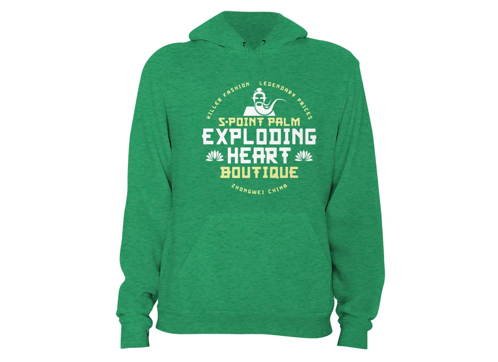 5-Point Palm Exploding Heart Boutique on Hoodie