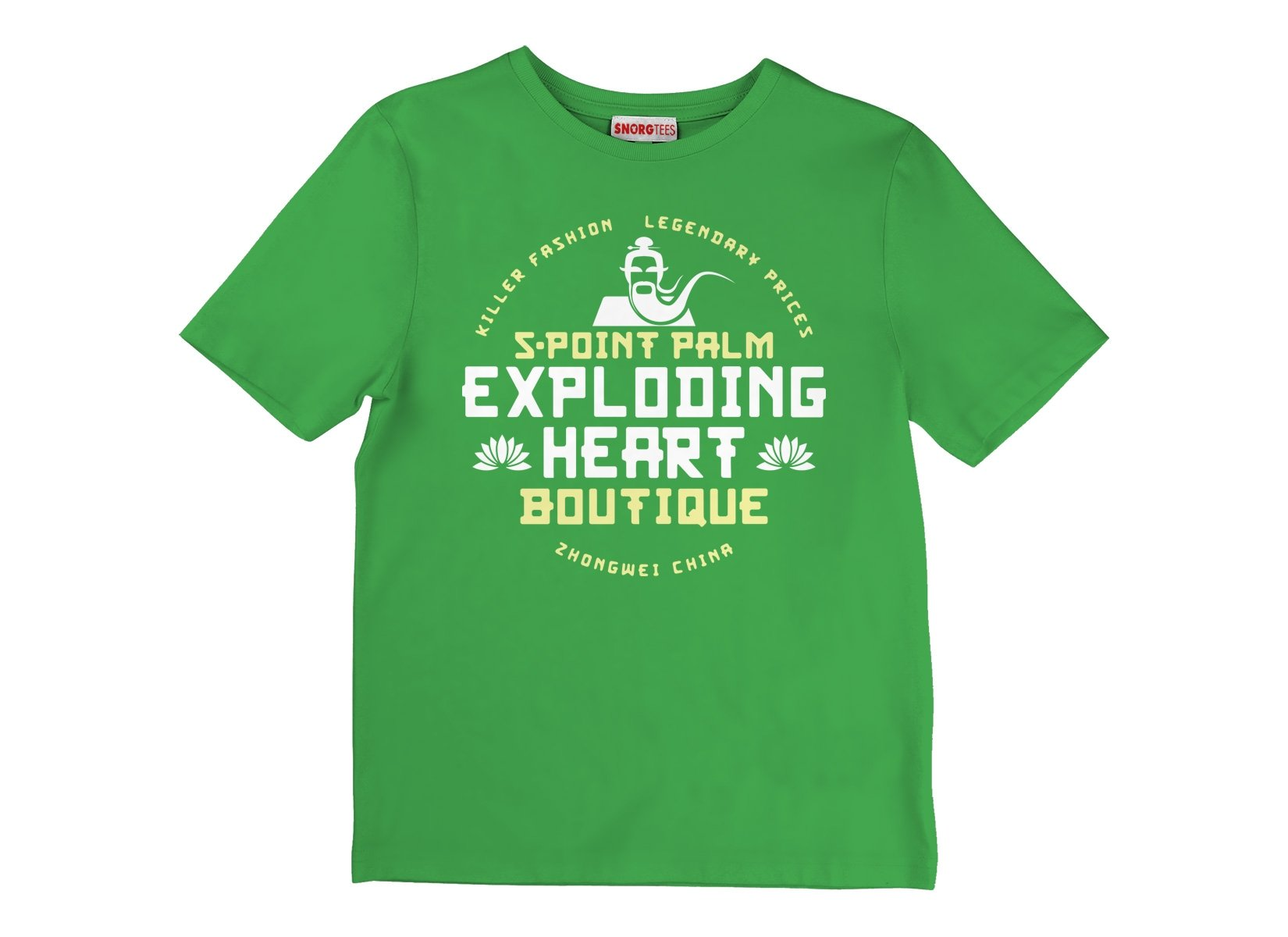 5-Point Palm Exploding Heart Boutique on Kids T-Shirt