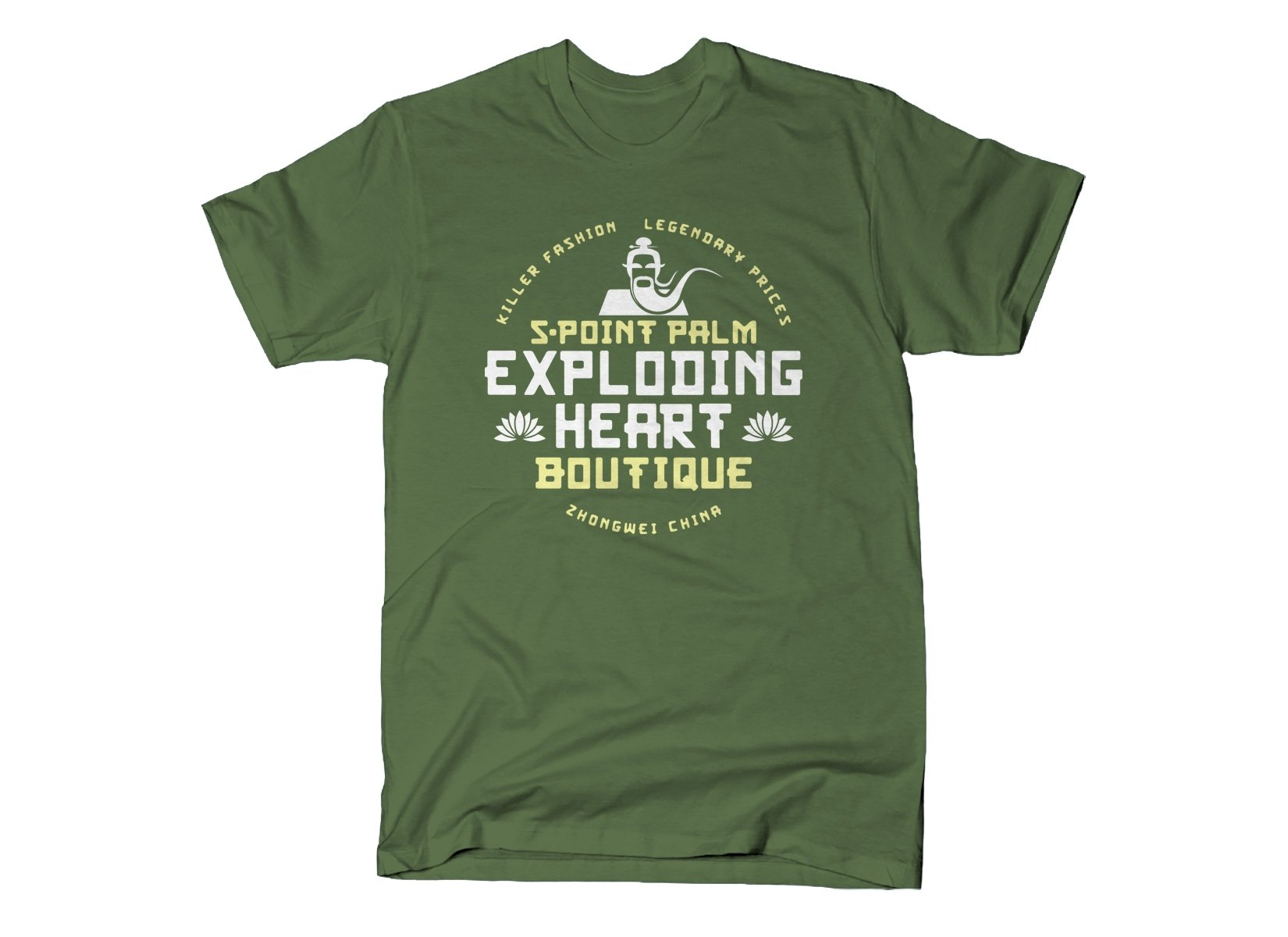 5-Point Palm Exploding Heart Boutique on Mens T-Shirt
