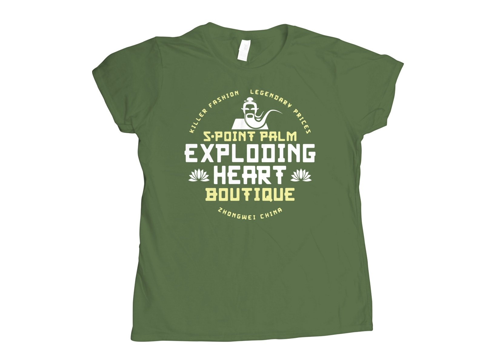 5-Point Palm Exploding Heart Boutique on Womens T-Shirt