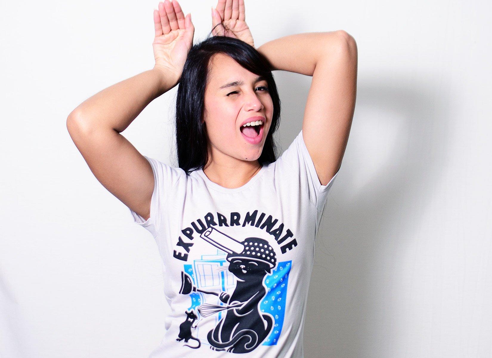 Expurrrminate on Womens T-Shirt