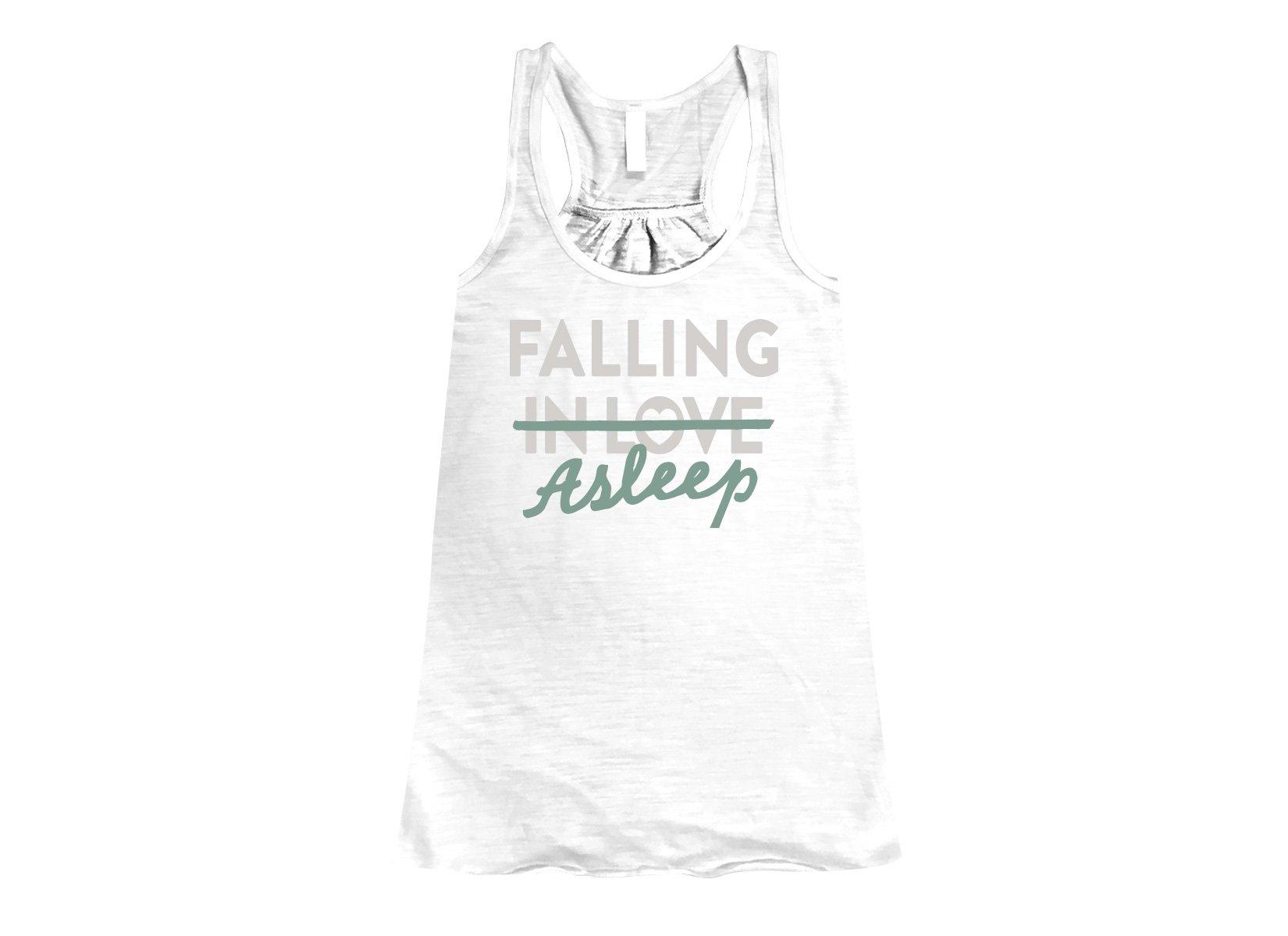 Falling Asleep on Womens Tanks T-Shirt