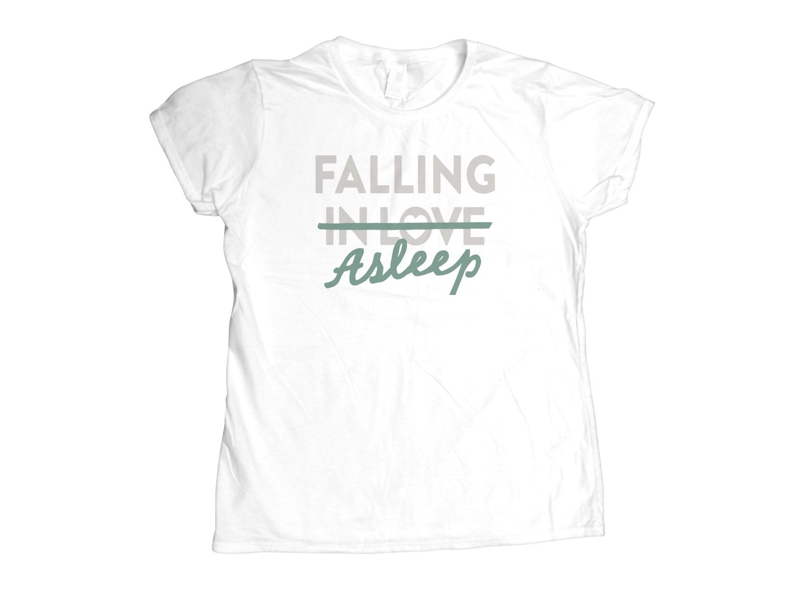 Falling Asleep on Womens T-Shirt