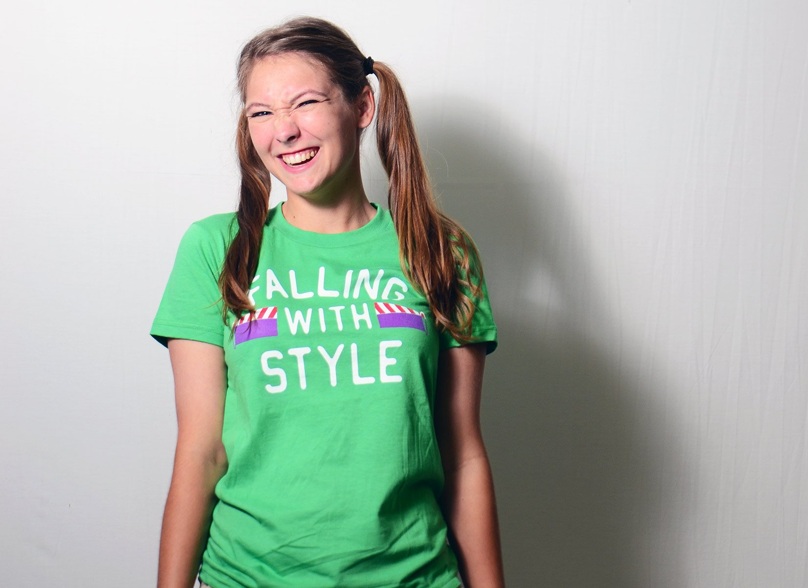 Falling With Style on Juniors T-Shirt