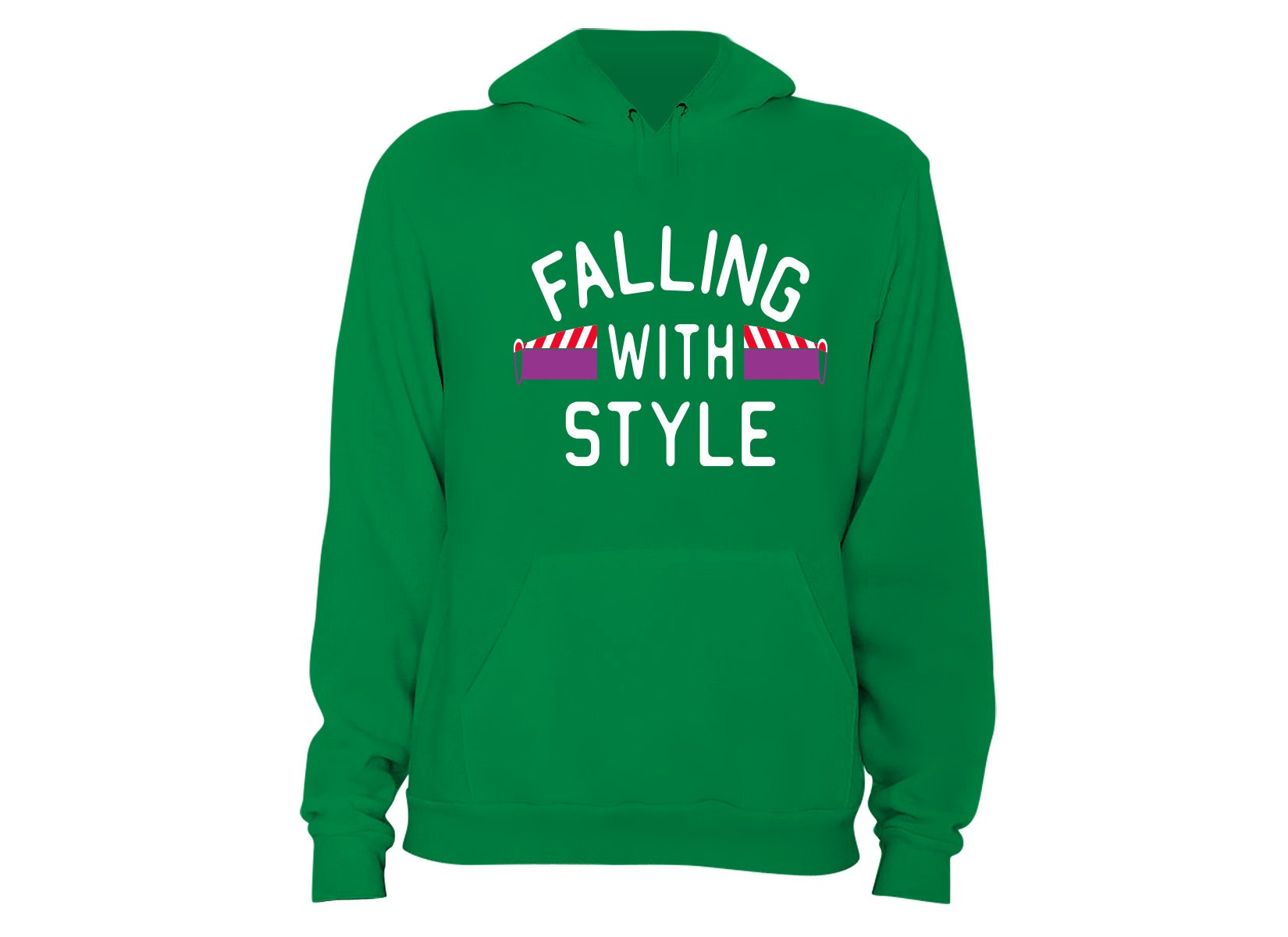 Falling With Style on Hoodie