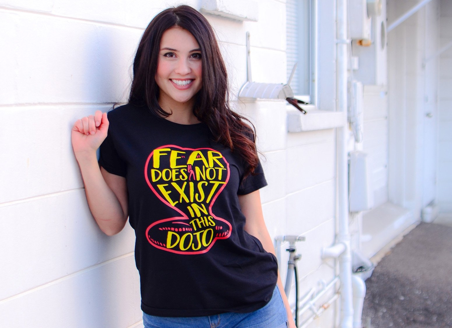 Fear Does Not Exist In This Dojo on Womens T-Shirt