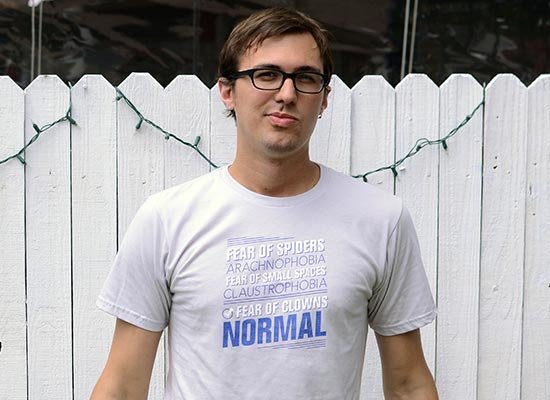 Fear Of Clowns: Normal on Mens T-Shirt
