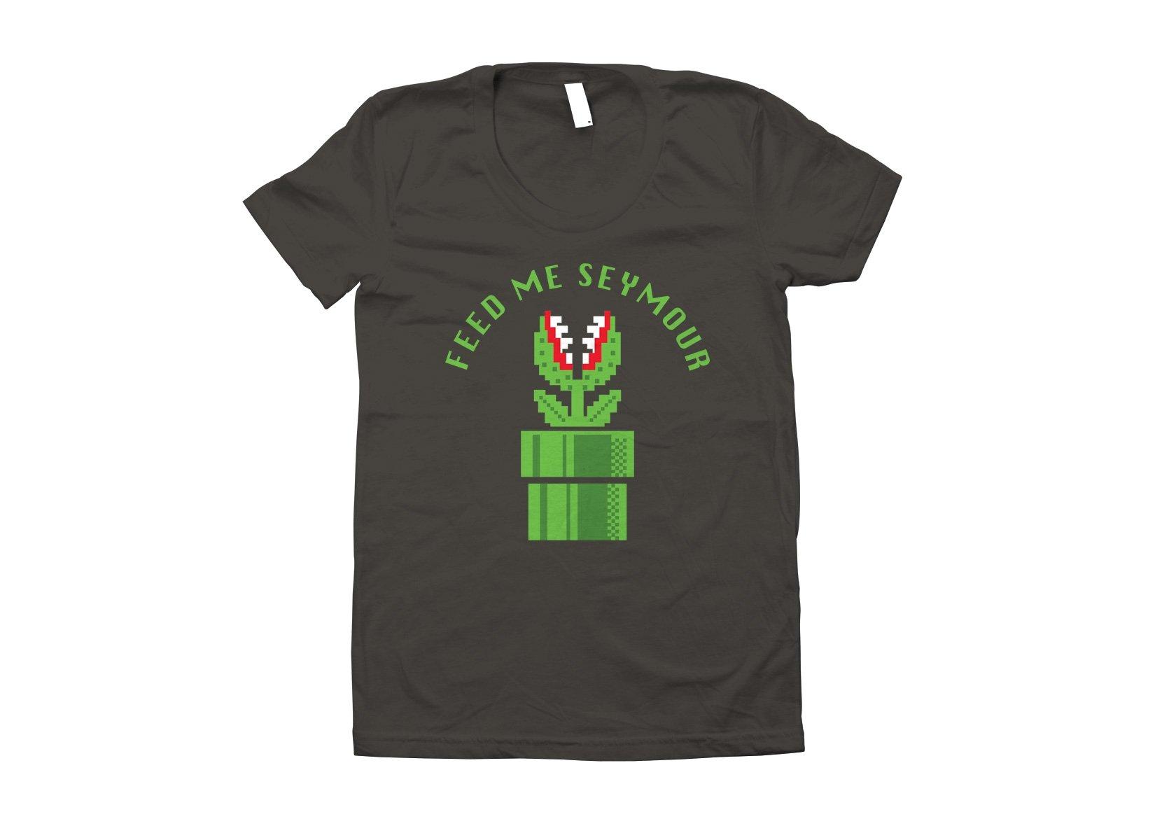 Feed Me Seymour on Juniors T-Shirt