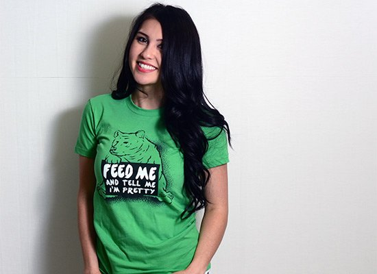 Feed Me on Juniors T-Shirt