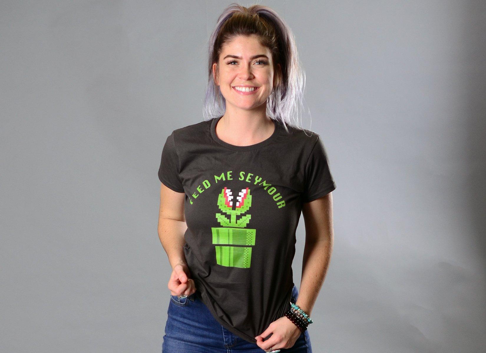 Feed Me Seymour on Womens T-Shirt