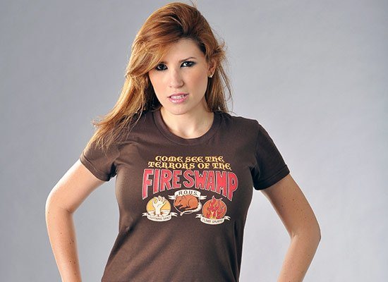 The Fire Swamp on Juniors T-Shirt