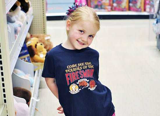 The Fire Swamp on Kids T-Shirt