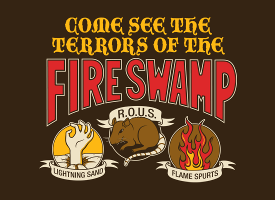 The Fire Swamp on Mens T-Shirt