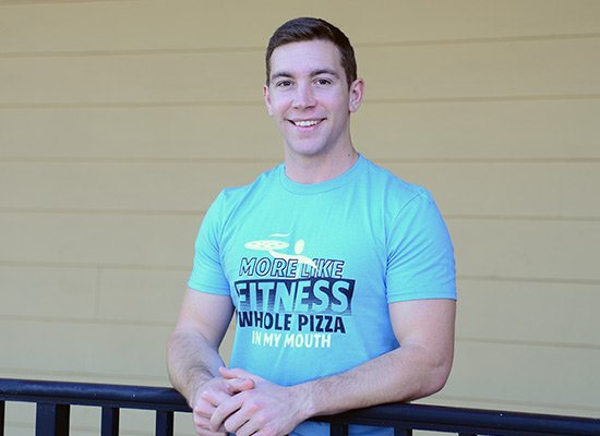 More Like Fitness Whole Pizza In My Mouth on Mens T-Shirt