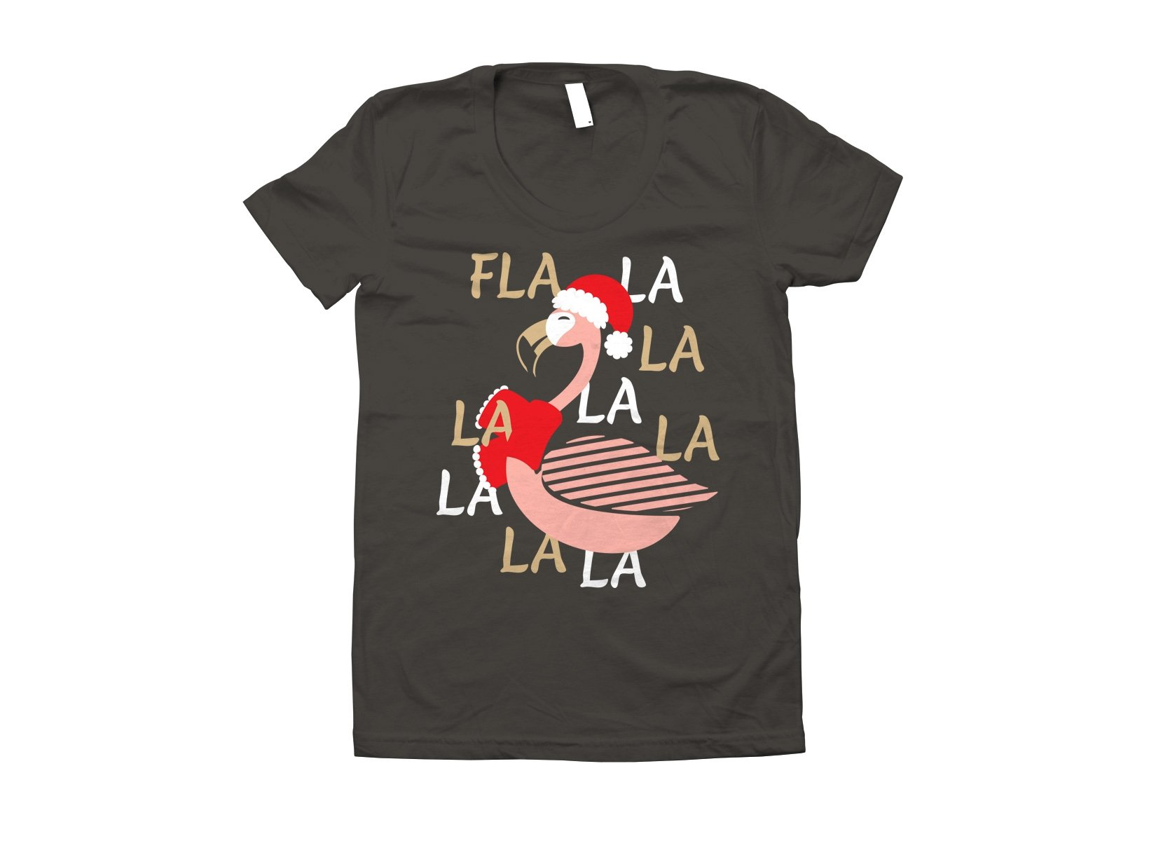 Fla La La Lamingo on Juniors T-Shirt