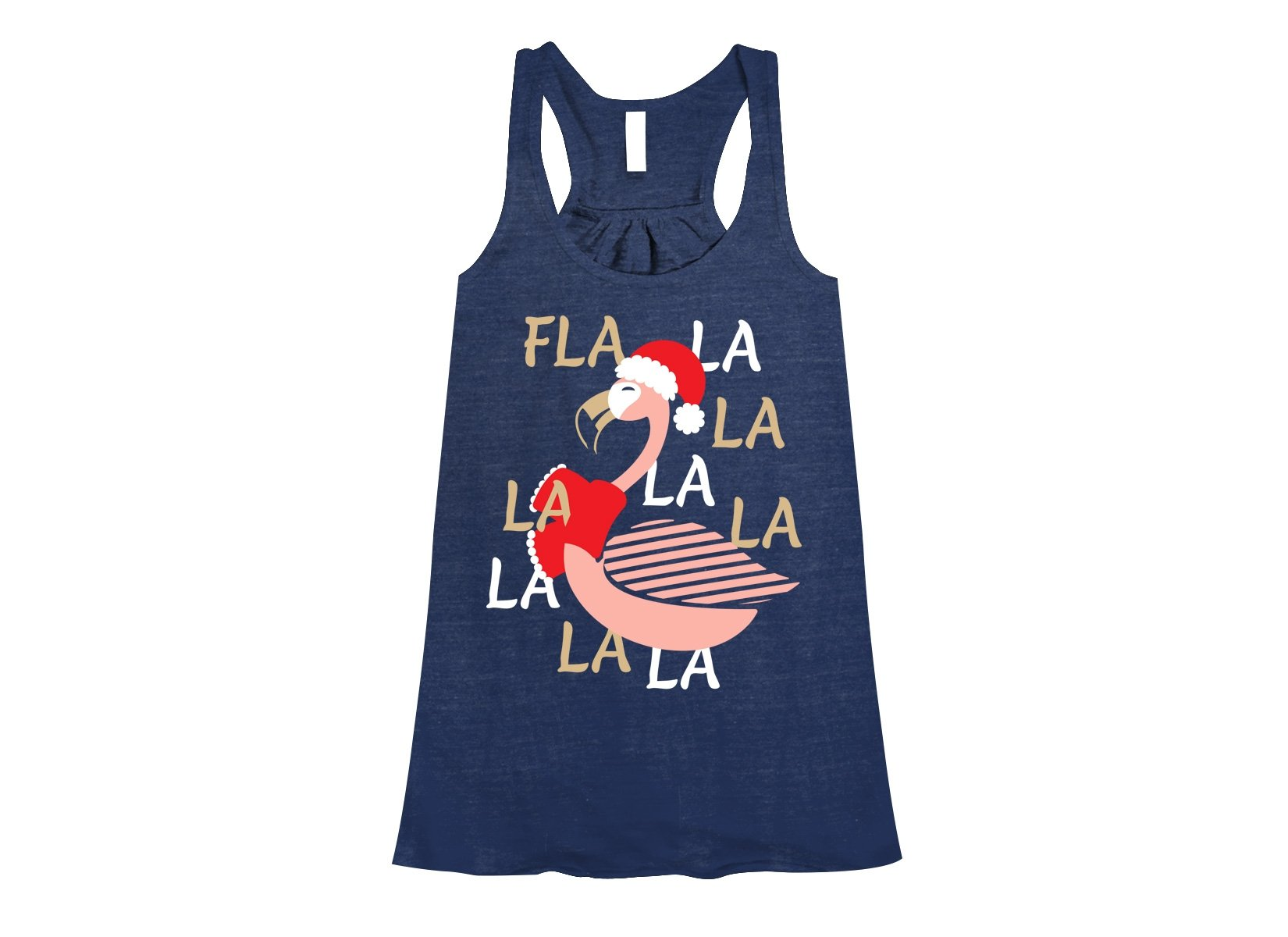 Fla La La Lamingo on Womens Tanks T-Shirt