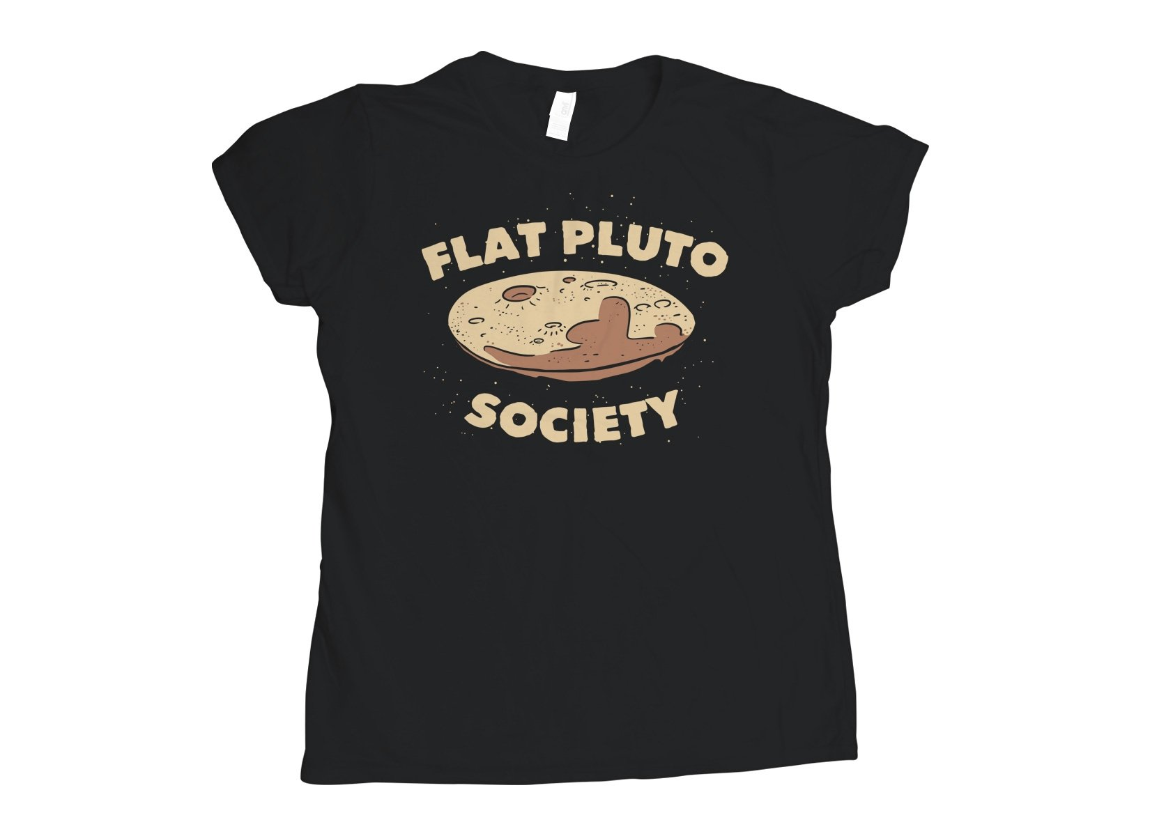 Flat Pluto Society on Womens T-Shirt