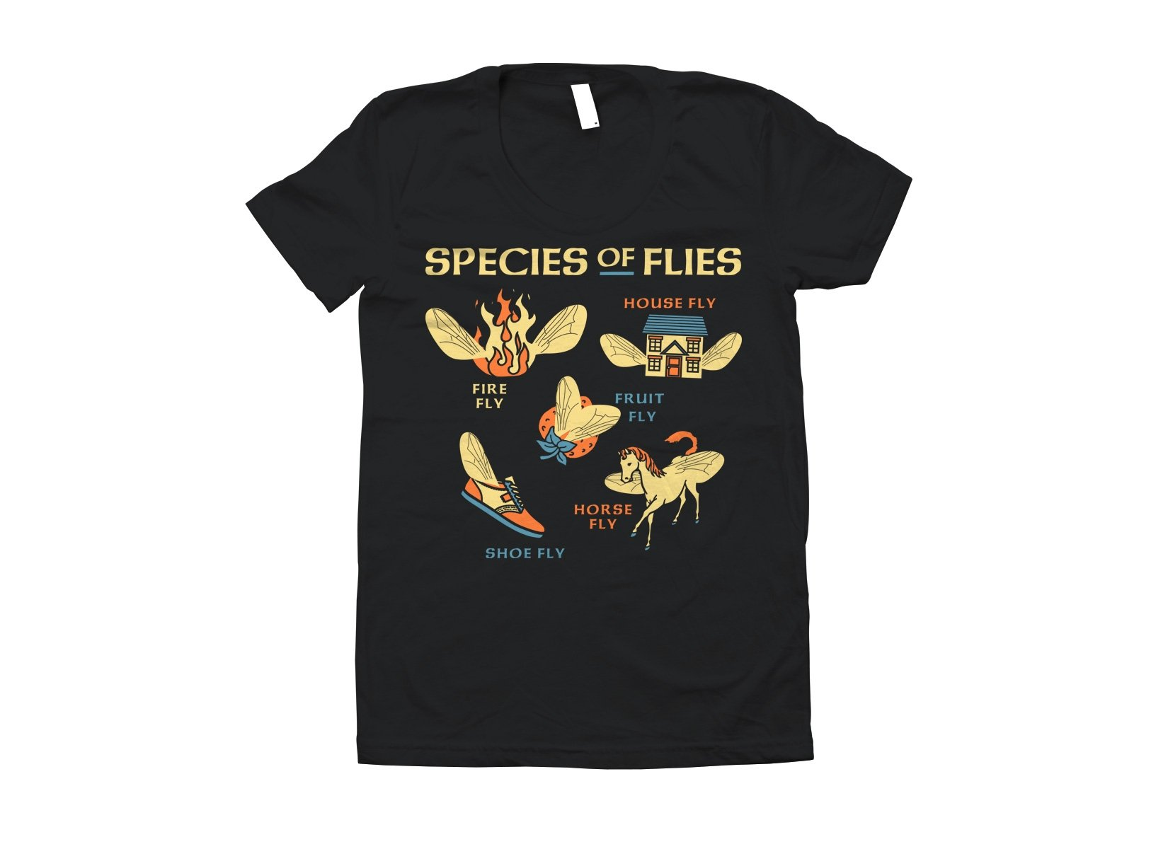 Species Of Flies on Juniors T-Shirt