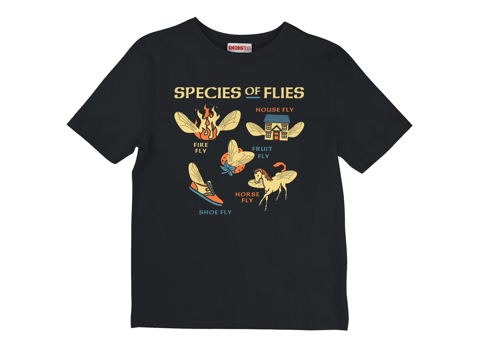Species Of Flies on Kids T-Shirt