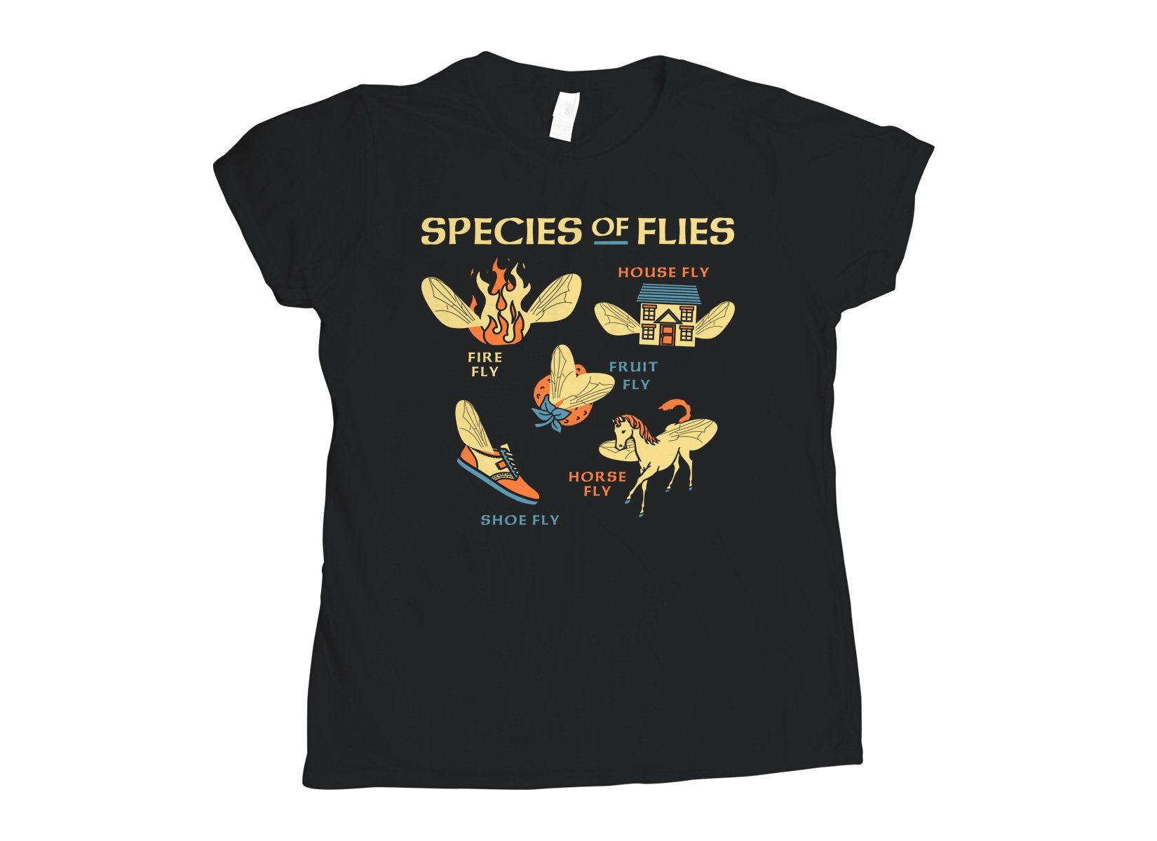 Species Of Flies on Womens T-Shirt