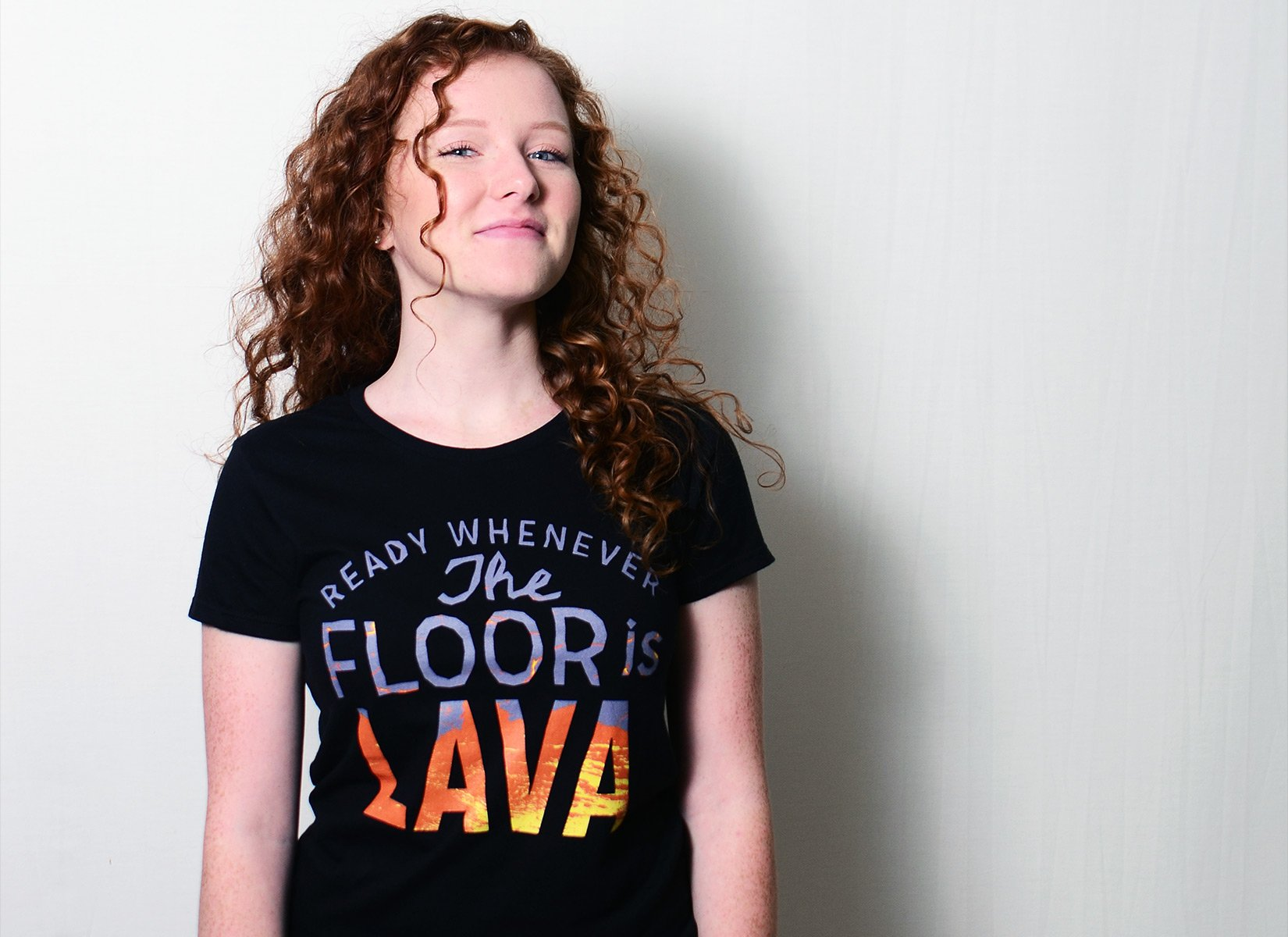 The Floor Is Lava on Womens T-Shirt