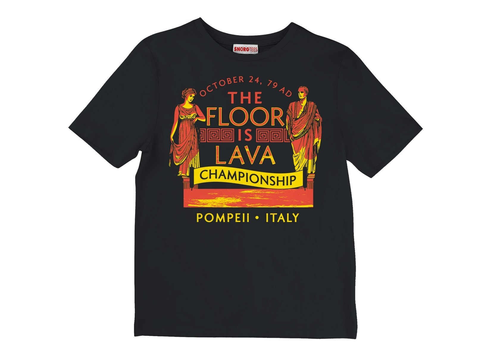 Pompeii Floor is Lava Championship on Kids T-Shirt