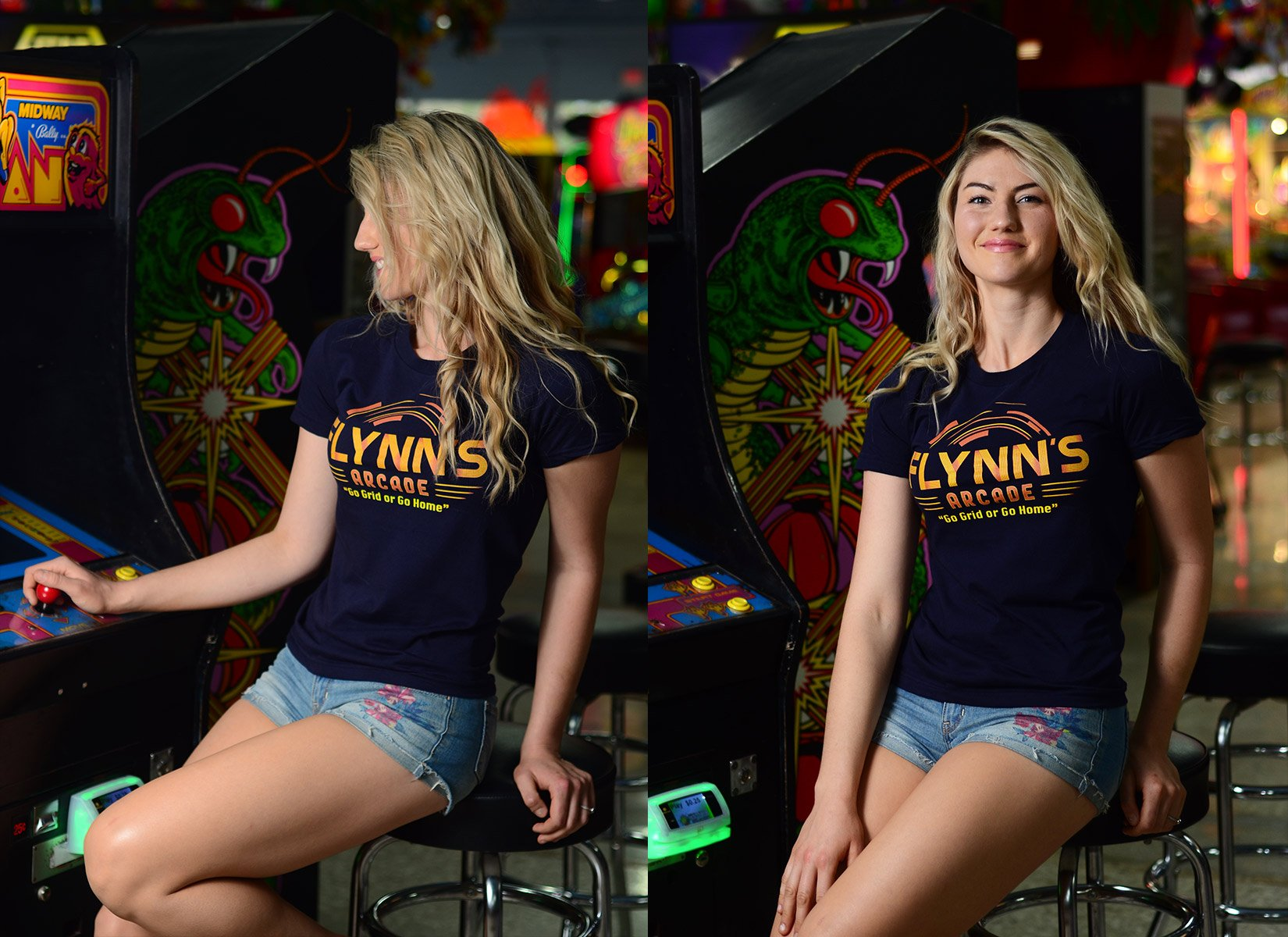 Flynn's Arcade on Juniors T-Shirt