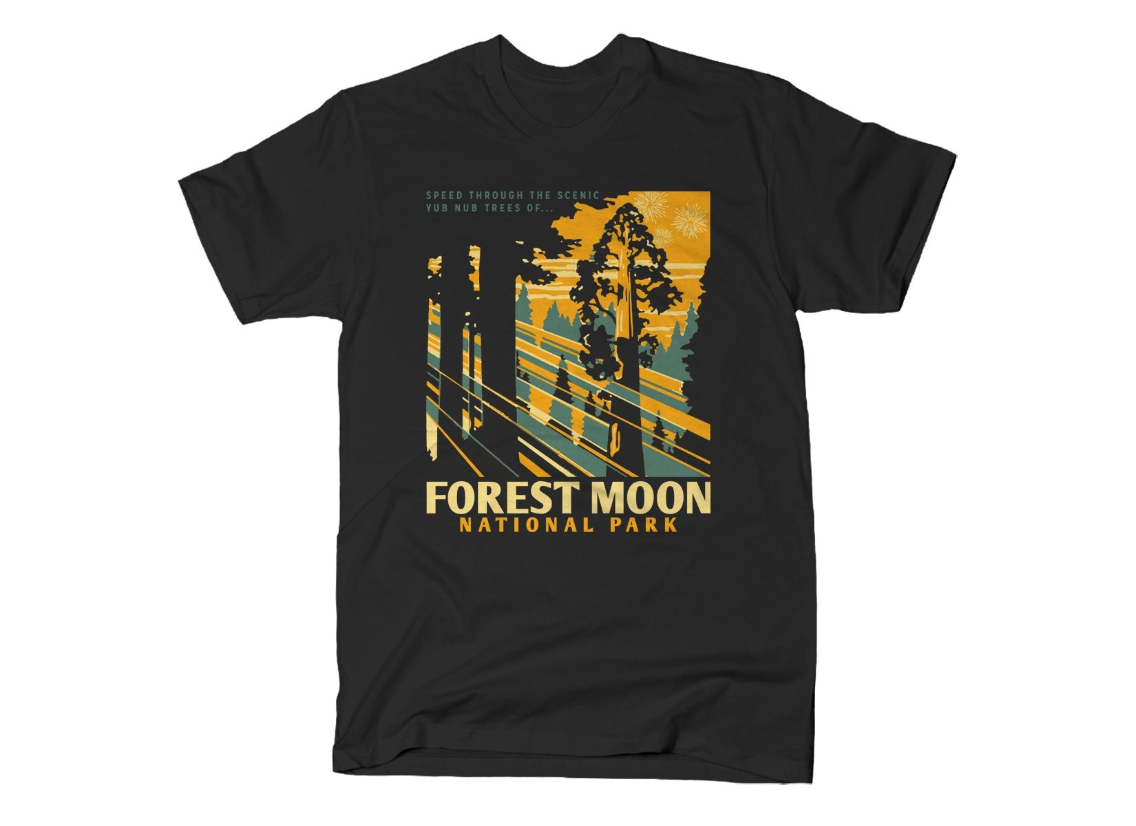 Forest Moon National Park on Mens T-Shirt