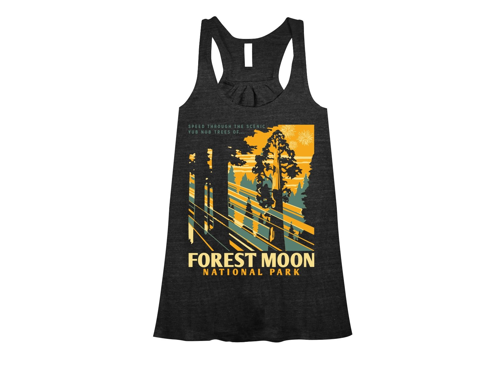 Forest Moon National Park on Womens Tanks T-Shirt