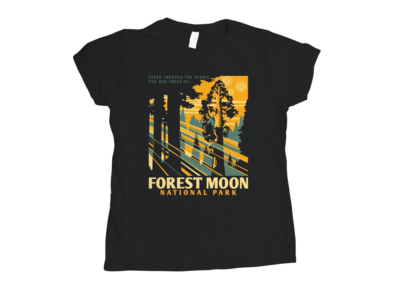 Forest Moon National Park on Womens T-Shirt