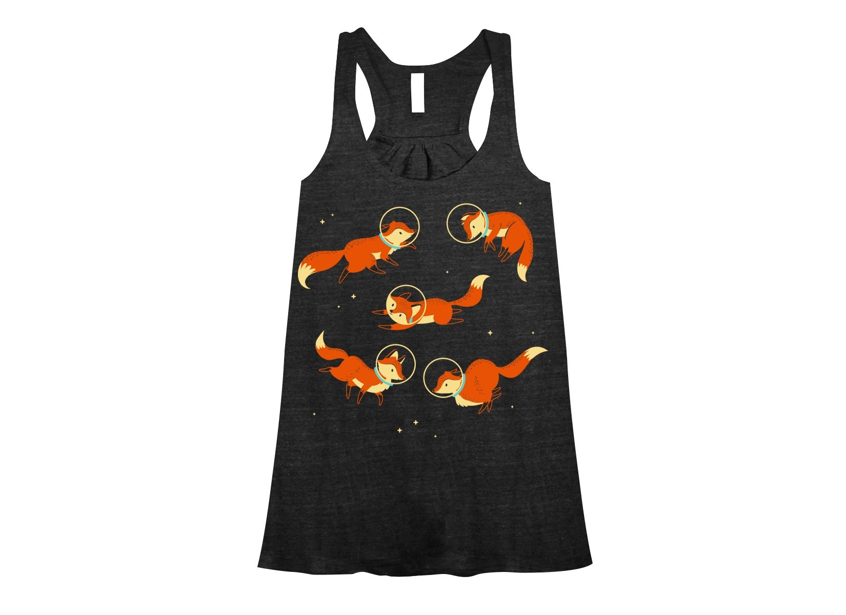 Foxes In Space on Womens Tanks T-Shirt